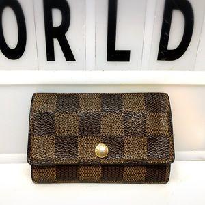 Louis Vuitton Damier Ebene 6 key case holder
